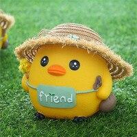 New Doll Chicken Piggy Bank Creative Child Gift Cartoon Grass Hat Chicken Barrier Deposit Money Tank