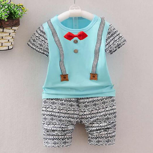 cc0ebaa96 New Kids Summer Infant Clothing Toddler Boys Clothing Baby Boy Female  Clothes Cotton Short Suit Kids Clothes Set Children