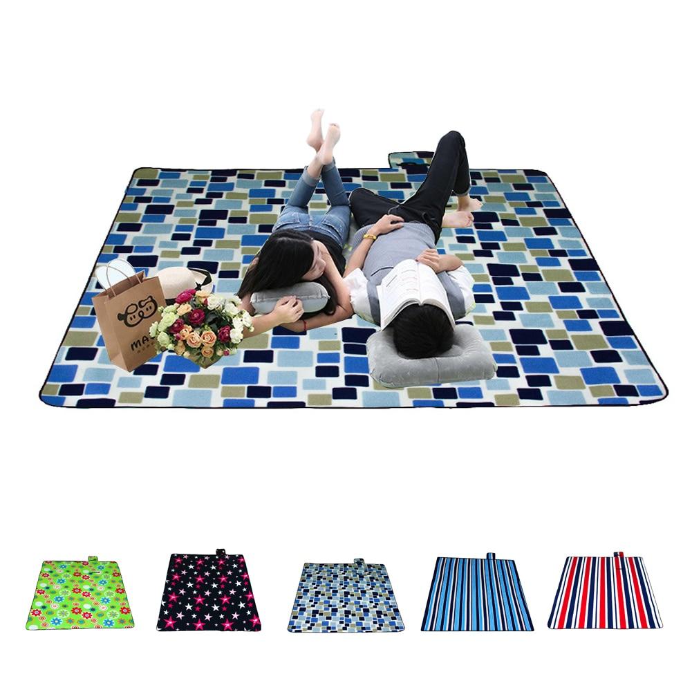 Outdoor camping picnic mat waterproof aluminum foil folding beach sleeping blanket travel pad 78.74*78.74inch