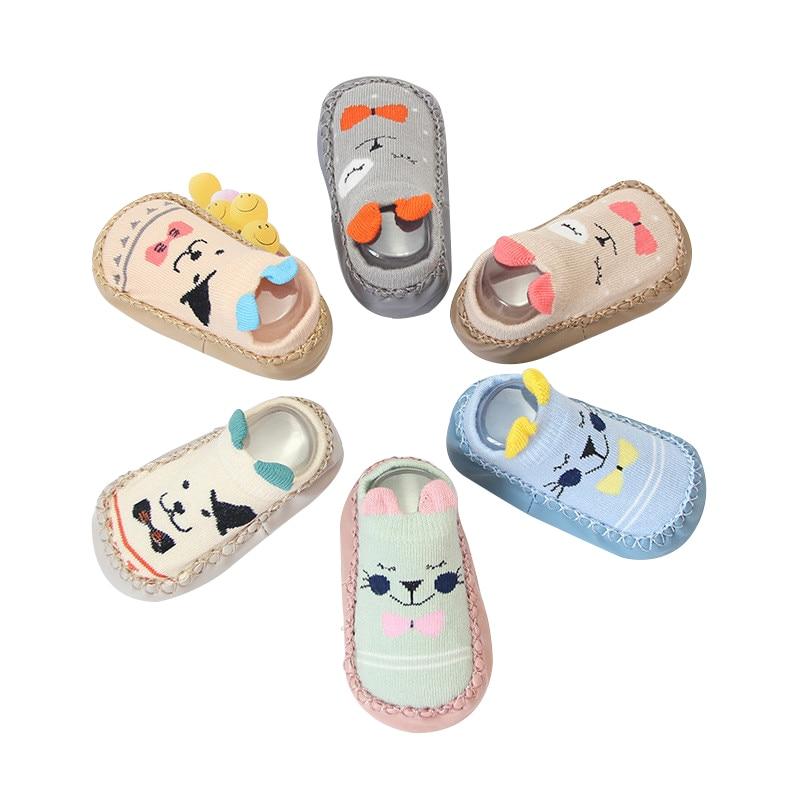 2019 New Baby Socks With Rubber Soles Infant Newborn Baby Girls Boys Children Floor Socks Shoes Anti Slip Soft Sole Sock