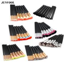 Фотография Color 10Pcs Makeup Brushes Set Pincel Maquiagem Cosmetics Foundation Make Up Tools Powder Eyeshadow Beauty Essential Brush Kit
