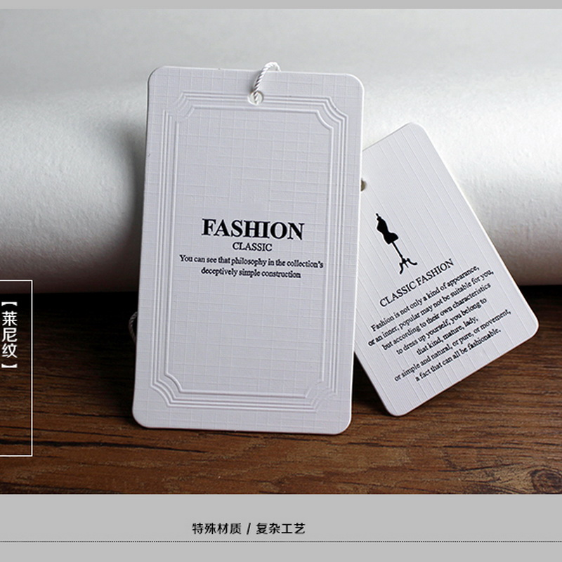 Estoque pendurar tag vestuário