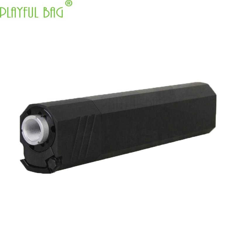 Sport CS jouet pistolet à balle d'eau silencieux spécial suppresseur 14mm dents inversées tube avant garniture court long style N76