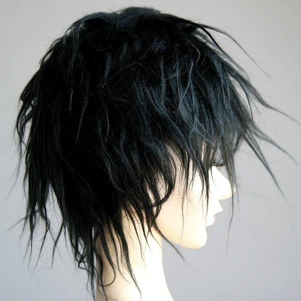 [Wamami] Новинка; Лидер продаж черный шерсть короткая парик волос SD DOD DZ 1/3 BJD Dollfie 8-9