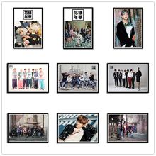 BTS White Posters Clear Image Wall Stickers Home Decoration High Quality Prints RM Jimin Jin HOME ART(China)