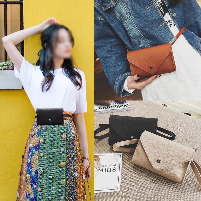 ファッション女性ウエストバッグ調節可能なpuレザーベルトバッグパック女性のための女性女の子旅行ヴィンテージ腰ポーチファニーパック黒