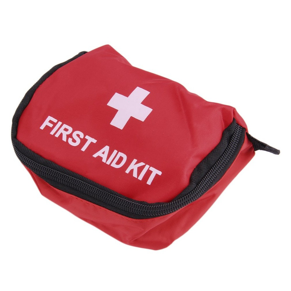 Kit de primeiros socorros saco 0.7l pvc vermelho ao ar livre acampamento emergência sobrevivência vazio saco bandagem droga à prova d11 água saco de armazenamento 11*15.5*5cm