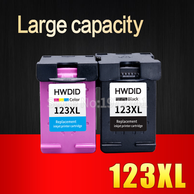 2Pcs 123XL Ink Cartridge for HP 123 XL for Deskjet 1110 2130 2132 2133 2134 3630