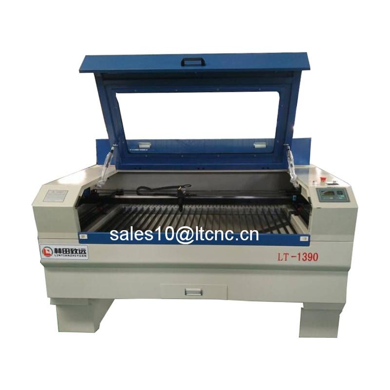 Konkurrenzfähiger Preis 80 watt 1300mm * 900mm CO2 laser graviermaschine mit CW3000 wasserkühler laser maschine 1390 rabatt