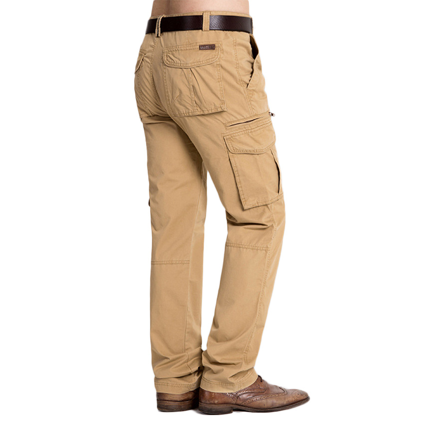 Mens Casual Pants Multi Packet Pants Autumn And Winter AFS JEEP Trousers Loose Big Yards Thickening Warm Pants Quality D118