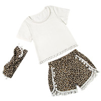 Free Shipping Kids Clothing Retail Babies Newborn Cute Pompom Pettiset Baby Girls Clothing KP POPS11