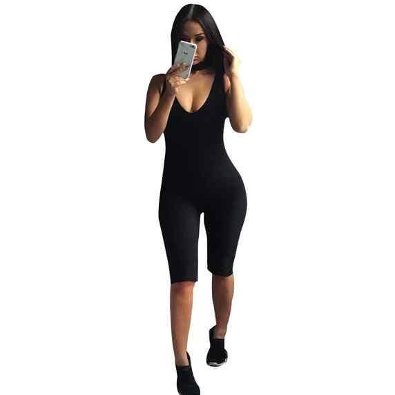 Без бретелек черный сплошной спандекс Комбинезоны с открытыми плечами летние шорты Комбинезоны женские комбинезон с открытой спиной Женские Боди WF667