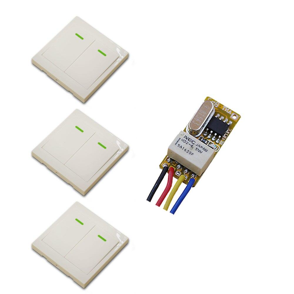 DC 3.5V-12V Wireless Remote Control Switch DC 3.5V 3.7V 4.5V 5V 6V 7.4V 9V 12V Micro Relay Receiver Radio Controller Switch dc 3 5v 12v mini relay wireless switch remote control