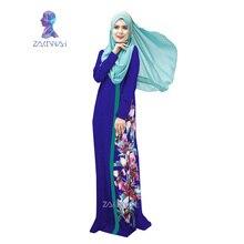 026 New style in dubai women flower print robe  spliced robe muslim dress women clothing robe turkish abaya vestidos musulmanes