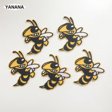 1 PCS bumblebee Wasp High-quality embroidery with badges Iron on Patches for Clothing DIY