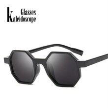 5fc4695368 Caleidoscopio gafas moda gafas de sol mujer marca diseñador gafas pequeño  marco Multicolor vendimia Octagon gafas de sol
