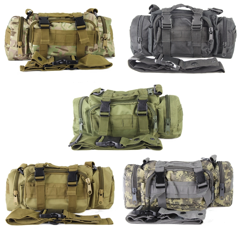 DUTOLE Multicam Utility Tactical Waist Pack Deployment Shoulder Bag Pouch Military Camping Hiking Bag Outdoor Hunting Bags airsoftpeak military tactical waist hunting bags 1000d outdoor multifunctional edc molle bag durable belt pouch magazine pocket