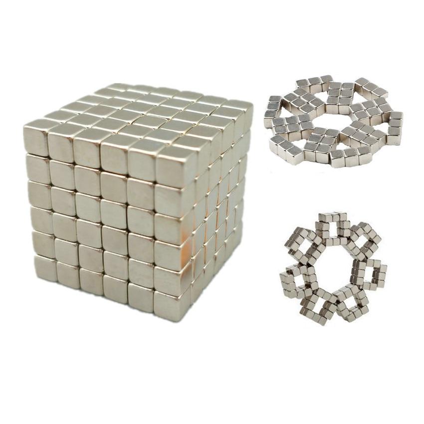 216pcs N42 Magic Cube Toy Block 5mm 4mm and 3mm NdFeB Magnet Cube Magic Toy Neodymium Magnets Rare Earth Magnets Permanent dayan 5 zhanchi 3x3x3 brain teaser magic iq cube