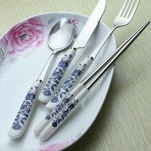 Porcelain Set Stainless Steel Dinnerware