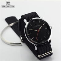New Products Top Quality Montre Homme X2 THE TWELFTH Mens Fashion Watches Black Nylon Straps Men