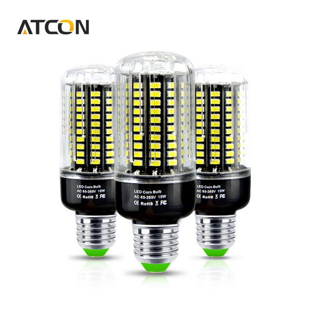 1Pcs Full Watt 3W 5W 7W 9W 12W 15W SMD 5733 E27 E14 LED Corn Bulb No Flicker Constant Current Design 85-265V LED lamp Spot light
