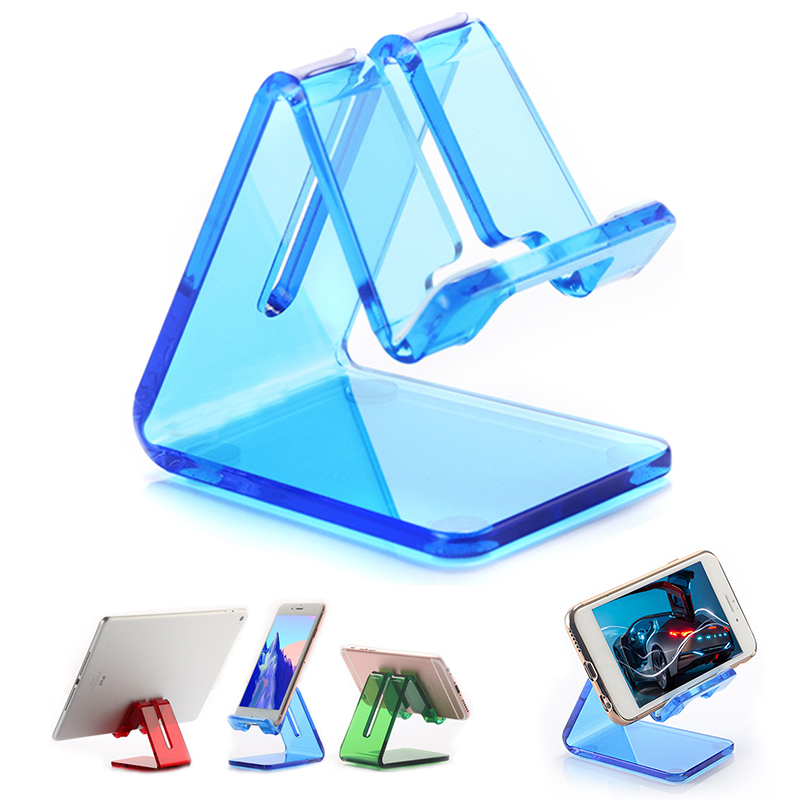 Portable Universal Acrylic Tablet Holder Desktop Mobile Phone Holder Stand for iPhone iPad