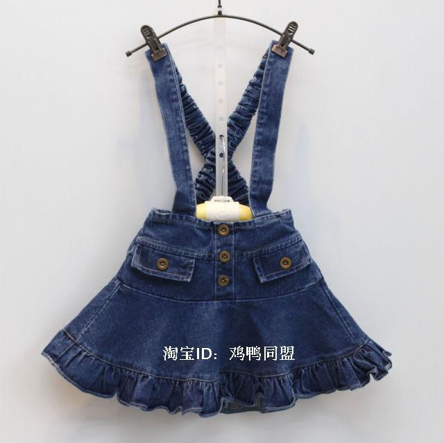 New Baby Girls High Quality Denim Dresses Girls Suspender Sundress Kids Overall Mini sleeves cloth Child All-match dress shuzhi summer baby girls dress denim sundress girls suspender denim dresses kids cute rabbit embroidery sundress