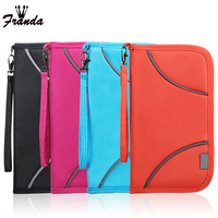 RFID Waterproof Passport Covers Travel Zipper Wallet Fabric Passport Card HolderCover Wallet Purse Organizer Bag Business