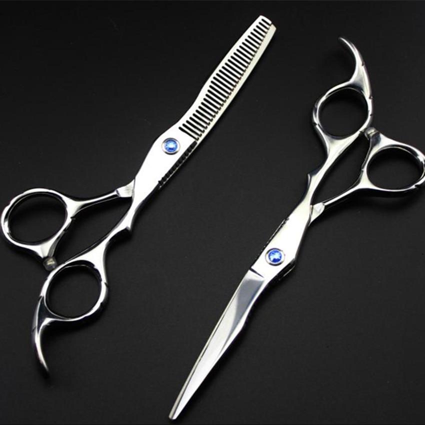 profesional 6 inci 440c 6cr13 potong gunting rambut set pemotong - Penjagaan rambut dan penggayaan - Foto 4