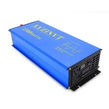 3000 Вт пик 1500 Вт решетки чистая Синусоидальная волна инвертор 12 В до 220 В солнечная батарея инвертора 12 В/24 В/48 В постоянного тока до 120 В/220 В/240 В переменного тока