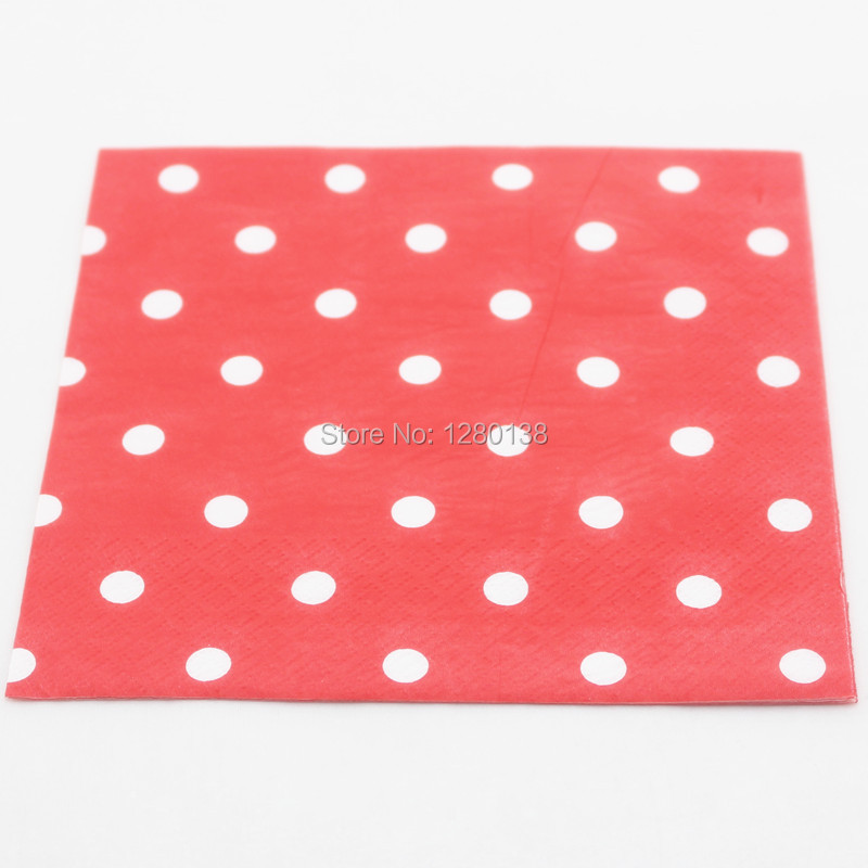 Wholesale 6 Colors Polka dot Paper Napkins Wedding Birthday Party Supplies folding Cocktail Napkins -in Disposable Party Tableware from Home \u0026 Garden on ...  sc 1 st  AliExpress.com & Wholesale 6 Colors Polka dot Paper Napkins Wedding Birthday Party ...