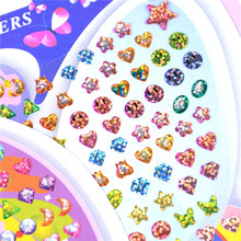 Crystal Stickers Earring Kindergarten Wonderful Ear-Reward-Stick Girl 1sheet Cartoon