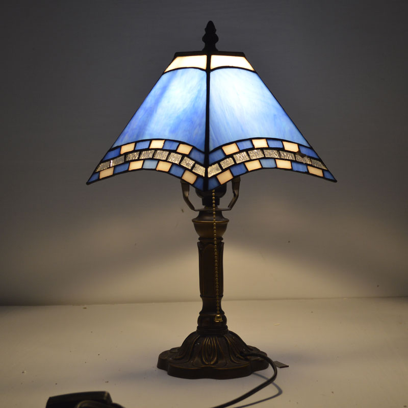 Tiffany Table Lamp Mediterranean Sea Style Stained Glass