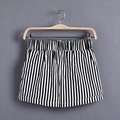 Customize Women Plus Size Casual Summer New Elastic Waist Shorts Female Zebra Black and White Stripes Hot Shorts