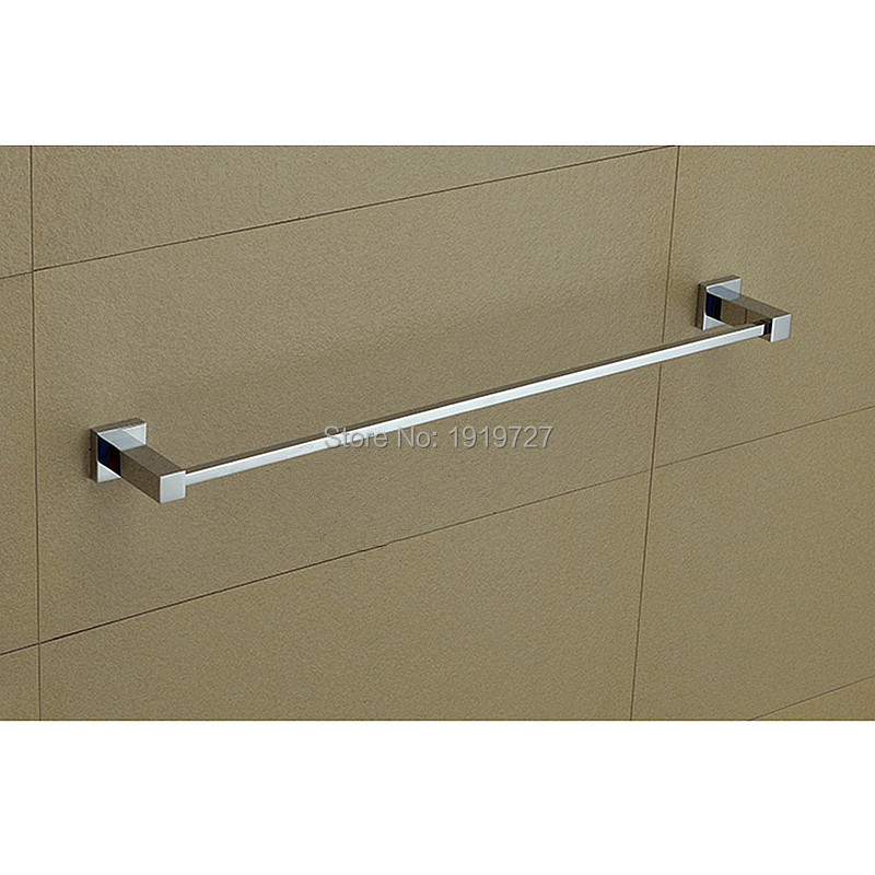 Factory Direct 2016 Modern Square Solid Copper Chrome 63 cm Wall Mounted Hot Sale Promotion Bathroom Shelf With Towel Bars direct selling hot sale bolt inserting type free shipping bathroom accessories solid chrome double shelf wholesale 84012