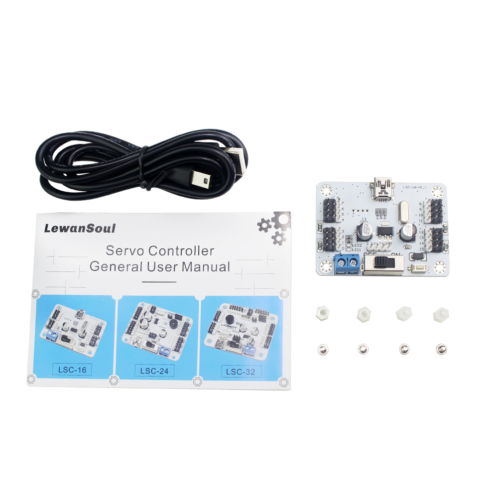 Lewansoul Servo Controller 16 Ch Board Over Current Protection Usb Member Robot Tutorials Helicopter Remote Control Rc Parts Toy For Children In Accessories From Toys