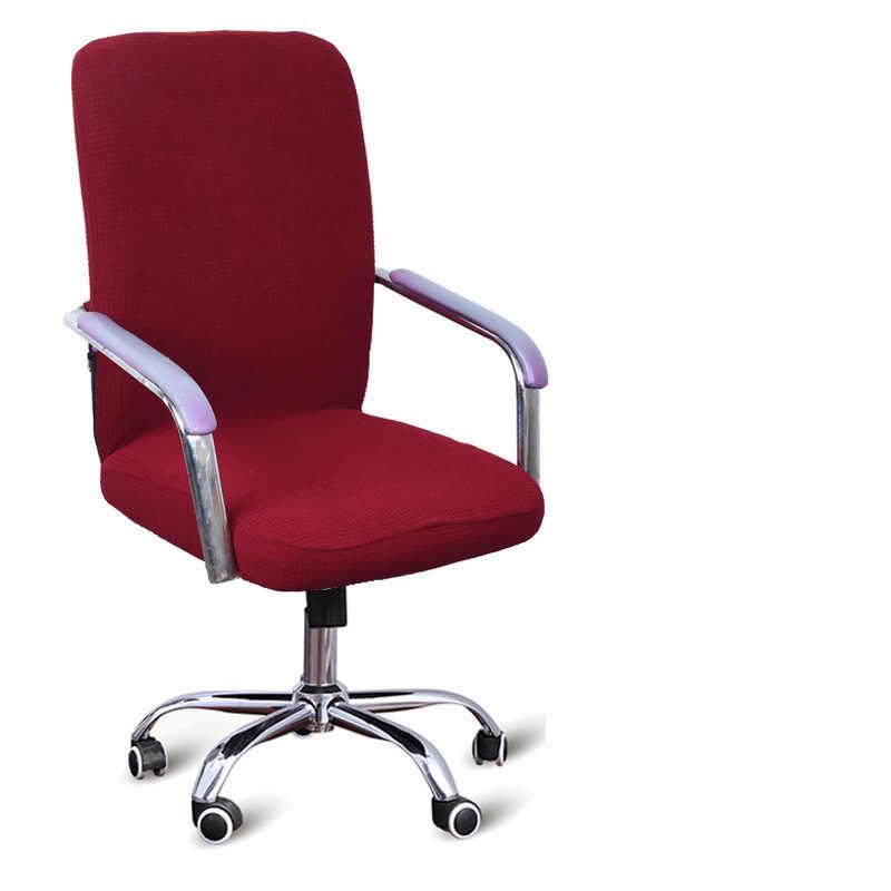 Nova 9 Cores Moderno Spandex Tampa Da Cadeira Do Computador 100% Tecido Elástico de Poliéster Tampa Da Cadeira Do Escritório Fácil Lavável Removível