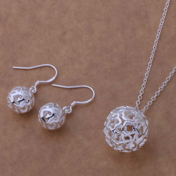 AS224 Hot 925 sterling silver Jewelry Sets Earring 317 + Necklace 338 /blkakcra ajkajara