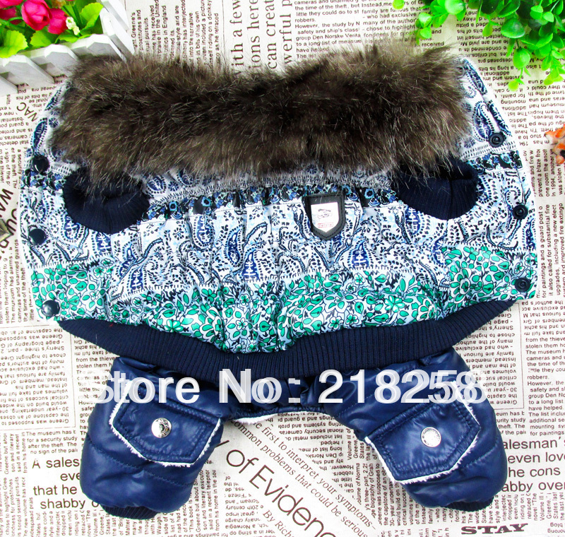 Retail New Coming Chinese Classic Pet Dogs Winter Coat Gratis frakt Av Kina posta nya kläder till hund