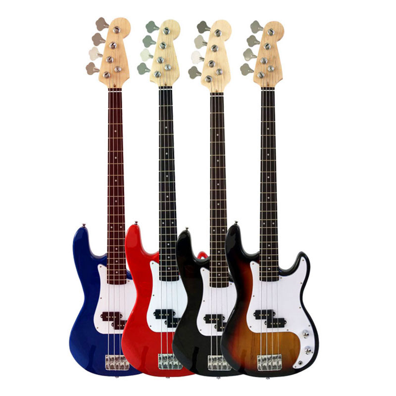 Yuker Wood Electric Bass Guitar Basswood High Quality 20 Frets  4 Strings Guitars 4 Colors For Beginner Student 4pcs 990l electric bass guitar string 045 090 strings for electric bass with colored box