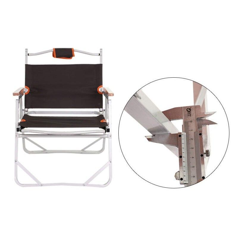 Kursi Pantai Camping Furniture Al 3Kg 56X47X66 Cm 200Kg Kopi Outdoor Memancing Kursi Bangku oxford Kursi