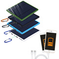9000 mAh Banco de la Energía del Panel Solar del USB Del Cargador de Batería Externa Para Celular Teléfono PhoneCell Promoción Azul