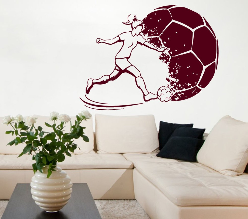 Football women sticker sports soccer decal helmets girl kids room dear friend welcome to my store the goods is good quality and all size and color are in stock pls donot worry about anything amipublicfo Images