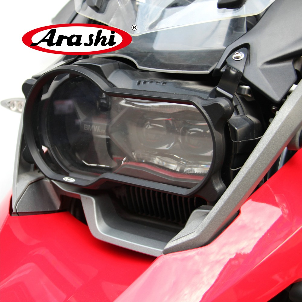 Arashi 1Piece Motorcycle Headlight Guard Protector Lense Cover For BMW R1200GS R 1200GS 1200 GS 2013 2014 2015 2016 2017 2018 цены онлайн