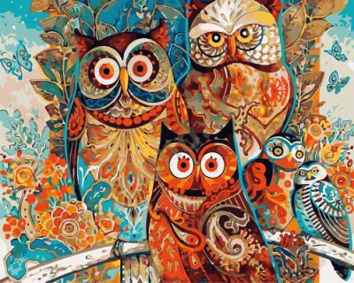 Rahmenlose Bilder DIY Ölgemälde Durch Zahlen Auf Leinwand Moderne Wand Bilder Für Wohnzimmer Abstrakte ölgemälde eulen