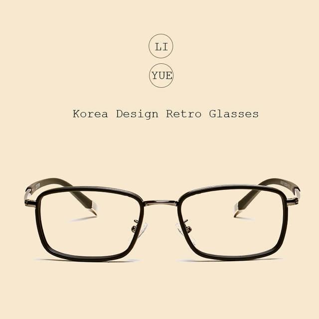 a54f39308a9 Online Shop LIYUE Fashion men optical glasses Style vintage eyeglasses  clear Computer glasses Prescription eyewear Spectacles Frame
