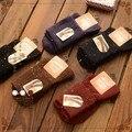 free shipping Retro color dot in tube socks piles of warm boots female flanging socks Japanese Sen female line 2015 winter new S