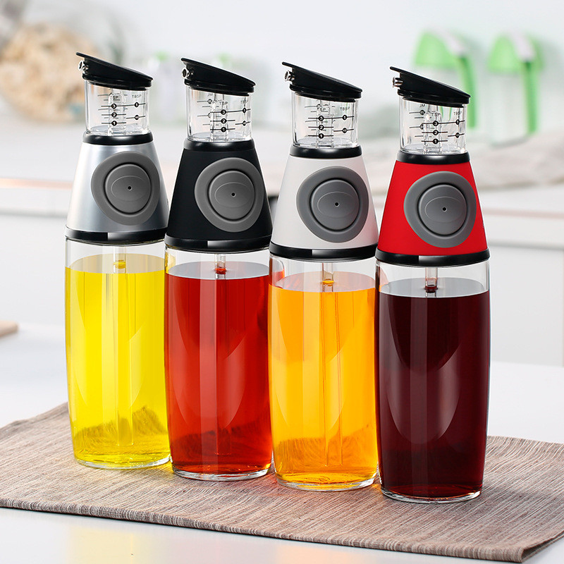 500ml Oil Bottle 2018 New No Drip Glass Olive Oil Vinegar Dispenser Pourer Bottles Cooking Tools