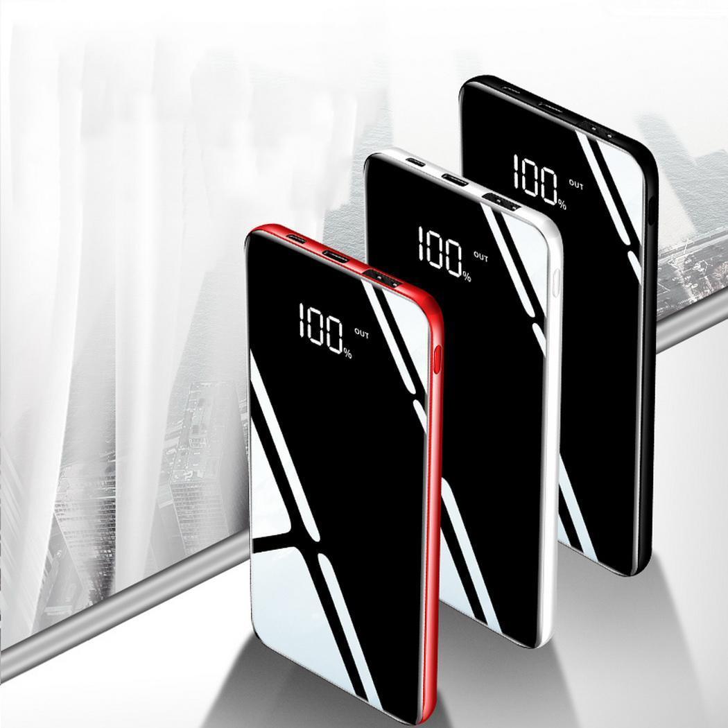 30000mAh Power Bank Mobile Phone Charger Bank Ultra-thin Portable LCD Display Dual USB 5V/2A Poverbank for xiomi mi 8 usb battery bank charger