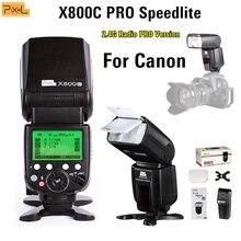 Flash Speedlite Pixel X800C PRO Wireless Shutter remote Hot shoe flash USB For Canon 5D 6D 7D Series 800D 750D 700D 650D 1200D